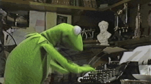 Kermit always finds time to blog