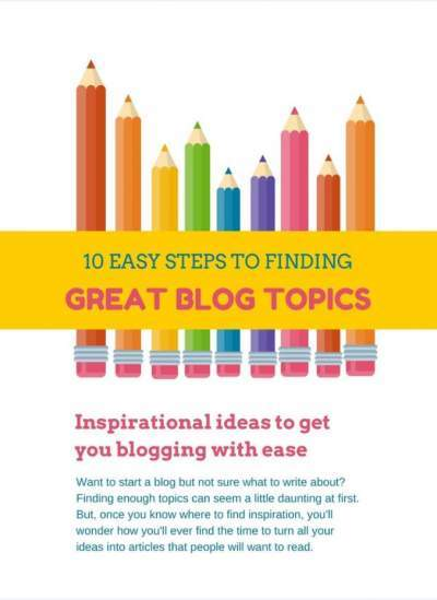 Ebook: Blog Topics Cover Page