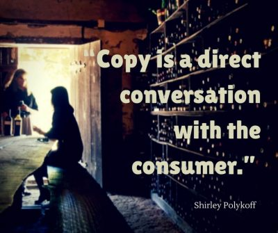 Copy is a Direct Conversation With the Consumer