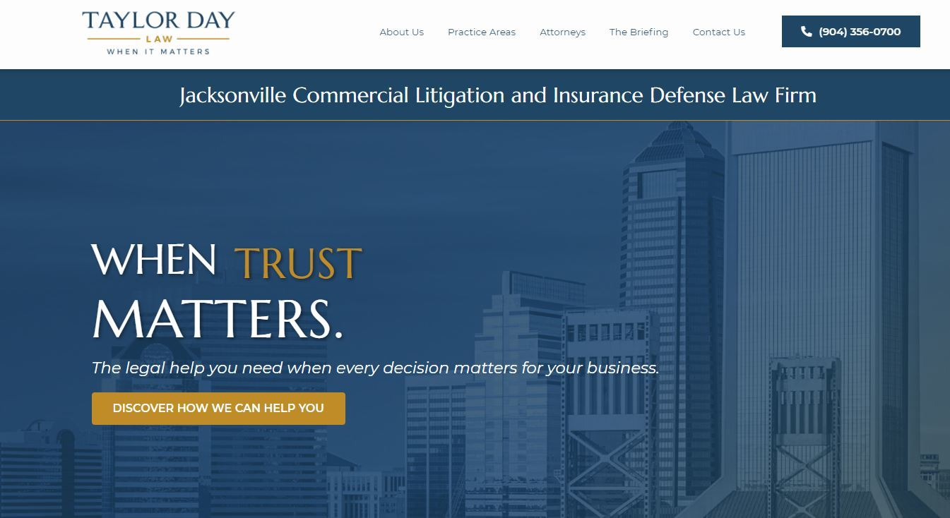 Home page for Taylor Day Law Firm