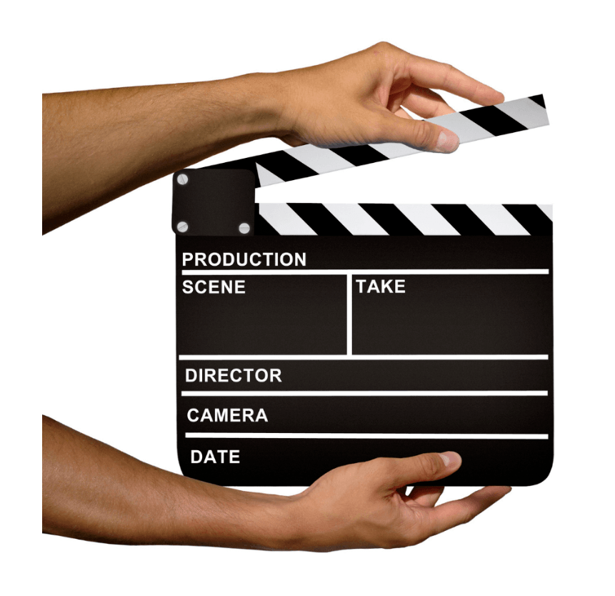 Director's clapboard - Video Script Wriitng